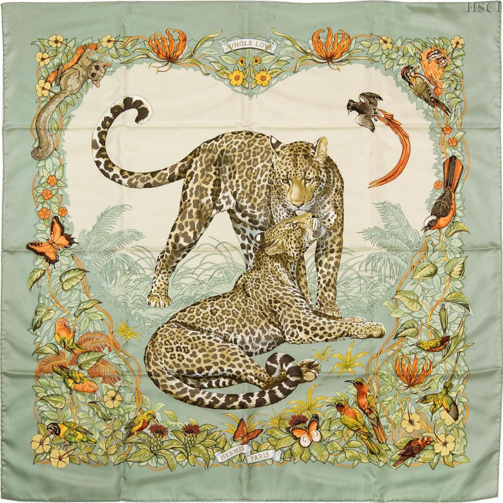 Hermes 101 Jungle Love Scarf