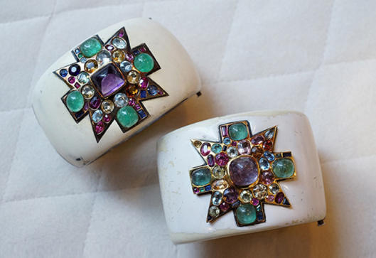 Coco Chanel Maltese Cross Cuffs