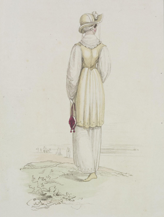 1800s fashion plate, courtesy of Victoria and Albert Museum